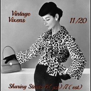 Handbags - FRIDAY 11/20 Vintage Vixens Sign Up Sheet